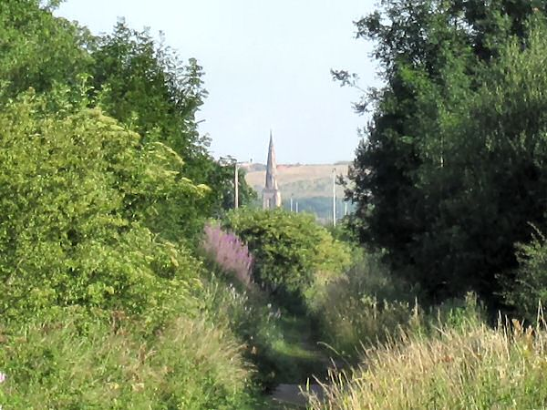Gedling Church from the Lower Path